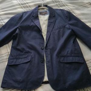 Black & Brown 1826 Navy Cotton Blazer (L)